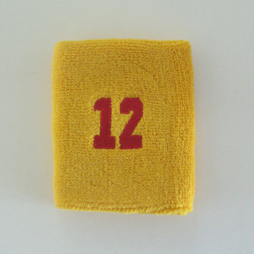 number12_golden_yellow_sweat_wristband