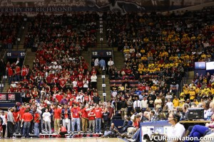 VCU fans filled a large portion of Richmond's Robins Center earlier this season.