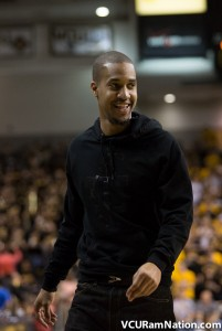 Eric Maynor returned to the Siegel Center to watch VCU defeat George Washington this past season.