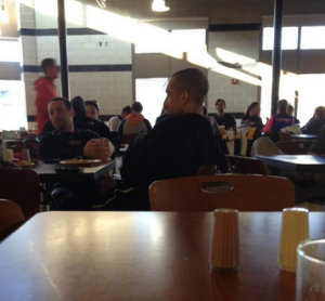 Twitter pic of Smart spotted this morning in VCU's Shafer Dining Hall (photo courtesy Brandon