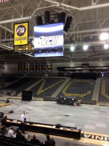 VCU testing some new technologies that will be a part of a new center-hung video/scoreboard.