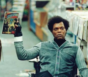 "Samuel L Jackson as Mr. Glass in the 2000 superhero drama, ""Unbreakable""."