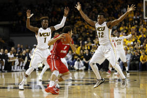Guards JeQuan Lewis and Melvin Johnson led their respective teams in scoring in last night's Black & Gold game.