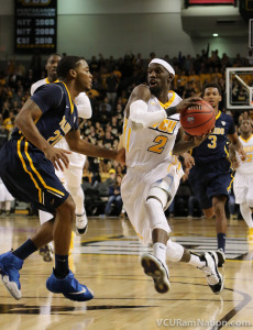 Briante Weber led VCU with 14 points, 7 rebounds and 6 steals to move into fifth on the NCAA's all-time steals list.