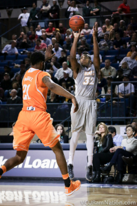 Melvin Johnson posted 20 of his game-high 23 points in the first half of tonight's win.