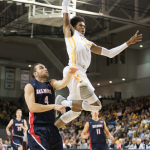 Freshman Justin Tillman has wasted no time in quickly becoming a fan favorite due to an innate ability to finish with authority.