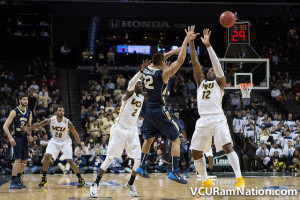 VCU won two of their three meetings with GW last season including a 74-55 win in last year's A-10 tournament semis.