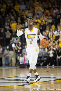 VCU's JeQuan Lewis tied his career high with a team-high 16 points to lead VCU in tonight's win.