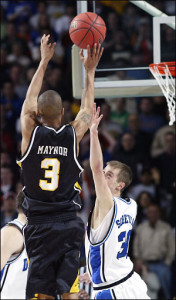 Eric Maynor scored 1,953 points during his time at VCU including the game-winning basket that knocked Duke out of the 2007 NCAA tournament.