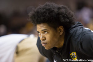 Freshman Justin Tillman finished with 10 points on 5-5 shooting off the bench for VCU in tonight's win.