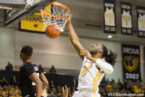 VCU's Mo Alie-Cox looks to  give VCU their third consecutive win over Dayton since joining the Atlantic 10.