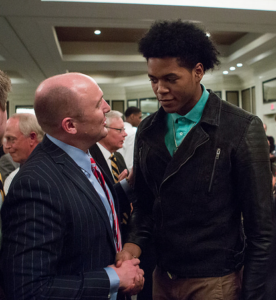 """Justin Tillman's dunks during this year's men's basketball banquet received some of the loudest applause of the evening. The rising sophomore briefly considered leaving VCU after the departure of Shaka Smart but decided to stay, citing the """"brotherhood"""" among Ram players."""