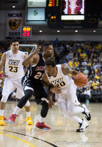 Jordan Burgess led VCU's offense early, finishing with 16 points on the evening.