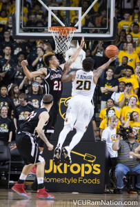 Jordan Burgess carried the Rams early, scoring 12 of his 16 points in the first half.