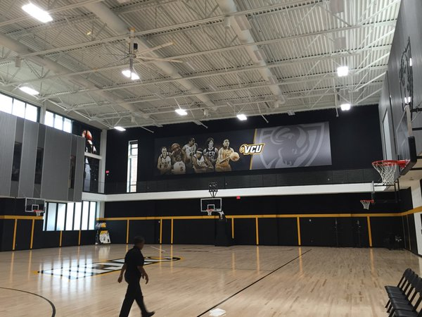 Women's practice court. Photo courtesy of Mark Newfield.