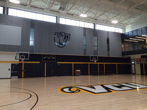 Part of women's practice court. Photo courtesy of Around the Horns.