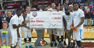 Overseas Elite won last year's TBT and a $1 million prize. This year's tournament prize money has doubled to $2 million.