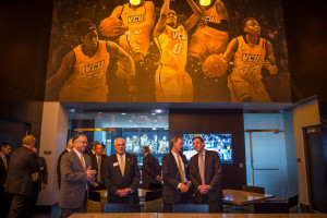 VCU's new Basketball Development Center sees large-scale graphics in place of what would otherwise be giant, boring wall space.