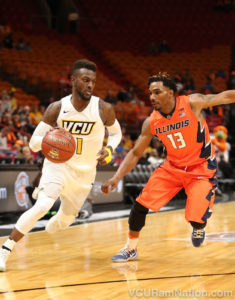 JeQuan Lewis will look to get back on track tonight after a cold shooting night in VCU's loss to Illinois.